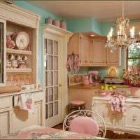 идея использования красивого интерьера комнаты в стиле ретро картинка