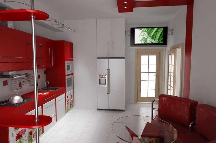 идея использования необычного дизайна кухни