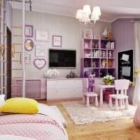пример необычного стиля детской комнаты для двоих девочек фото