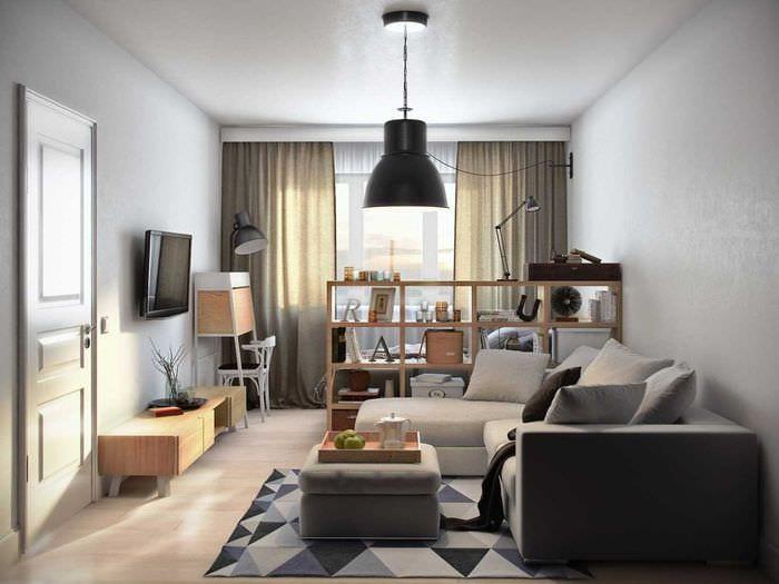 вариант яркого декора двухкомнатной квартиры