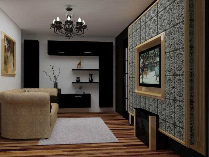 вариант красивого стиля детской комнаты 18 кв.м.