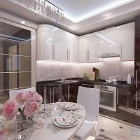 вариант необычного интерьера кухни 9 кв.м картинка