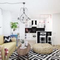 вариант красивого дизайна малогабаритной комнаты картинка