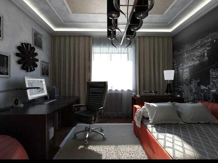 Дизайн комнаты для молодого человека: фото, идеи, примеры