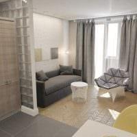идея необычного стиля гостиной комнаты 18 кв.м. картинка