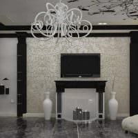 идея светлого декора зала в частном доме картинка