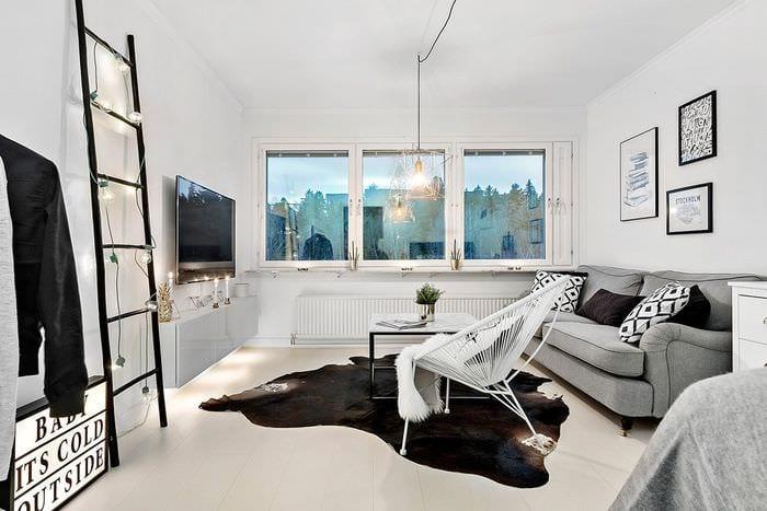 идея светлого интерьера квартиры в скандинавском стиле