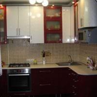 вариант необычного декора кухни 14 кв.м фото