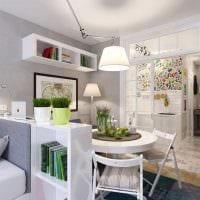 вариант красивого интерьера квартиры студии фото