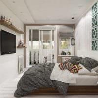 идея светлого интерьера комнаты в скандинавском стиле фото