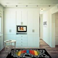 вариант необычного стиля маленькой комнаты картинка