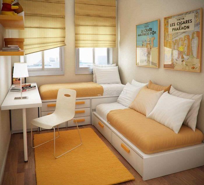 идея светлого стиля малогабаритной комнаты