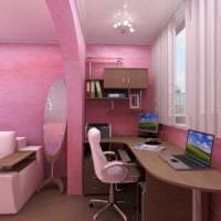идея яркого интерьера спальни для девочки в современном стиле фото