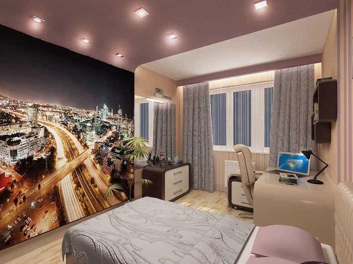 идея светлого дизайна спальни для девочки в современном стиле