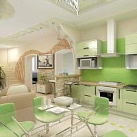 вариант красивого интерьера гостиной в частном доме фото