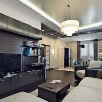 идея необычного дизайна зала в частном доме фото