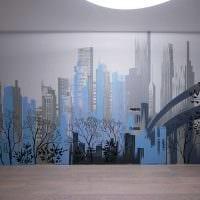 вариант красивого дизайна дома с росписью стен картинка