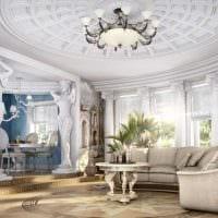 идея светлого дизайна квартиры в романском стиле фото