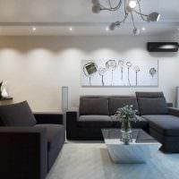 вариант красивого интерьера двухкомнатной квартиры фото