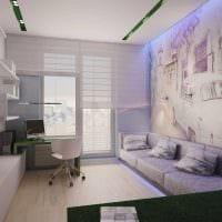 идея яркого стиля спальни гостиной 20 кв.м. фото