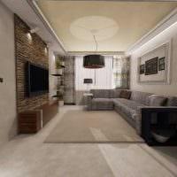 идея яркого стиля спальни гостиной фото
