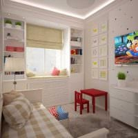 вариант светлого интерьера детской комнаты для девочки 12 кв.м фото