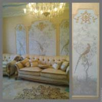 идея необычного стиля квартиры с росписью стен фото