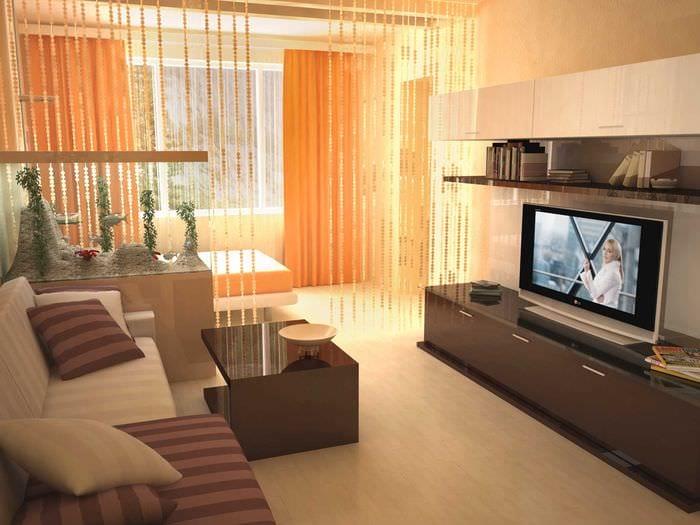 вариант светлого стиля гостиной спальни