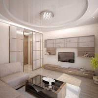 вариант яркого стиля гостиной в частном доме картинка