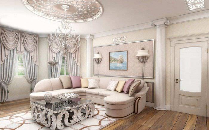 Цвет жилой комнаты