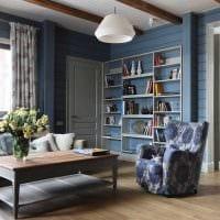 вариант красивого сочетания цвета в интерьере современной квартиры картинка