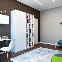 идея яркого сочетания цвета в дизайне современной комнаты фото