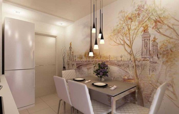 идея красивого стиля дома с росписью стен