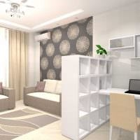 вариант необычного дизайна двухкомнатной квартиры фото