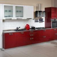 пример светлого интерьера кухни 8 кв.м картинка