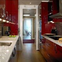 пример красивого декора кухни 9 кв.м фото