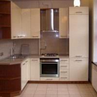 идея необычного интерьера кухни 9 кв.м фото