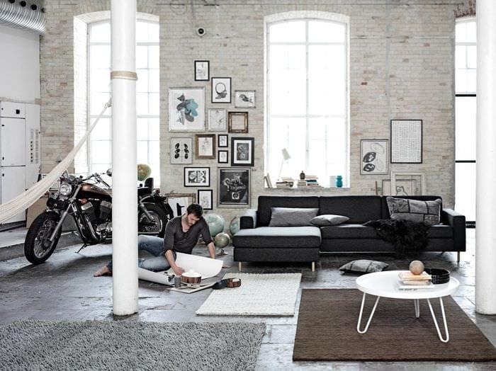 идея красивого дизайна комнаты в скандинавском стиле
