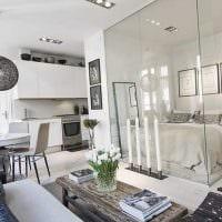 идея яркого интерьера малогабаритной комнаты фото