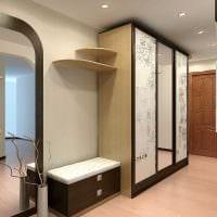 идея яркого стиля современной прихожей комнаты картинка