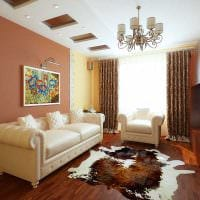 пример необычного декора двухкомнатной квартиры фото
