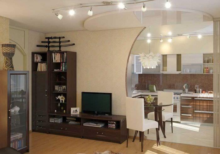 вариант красивого стиля двухкомнатной квартиры