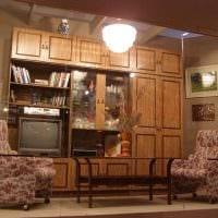 вариант яркого интерьера квартиры в советском стиле картинка