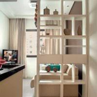 вариант яркого дизайна малогабаритной комнаты картинка