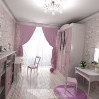 идея светлого стиля спальни для девочки в современном стиле картинка