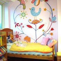 идея светлого декора дома с росписью стен фото
