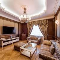 вариант светлого интерьера дома в романском стиле фото