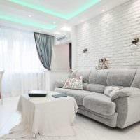 идея яркого интерьера двухкомнатной квартиры в хрущевке картинка