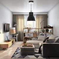 вариант яркого декора спальни гостиной 20 кв.м. картинка