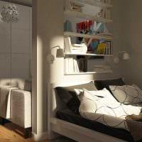 идея яркого интерьера спальни гостиной фото